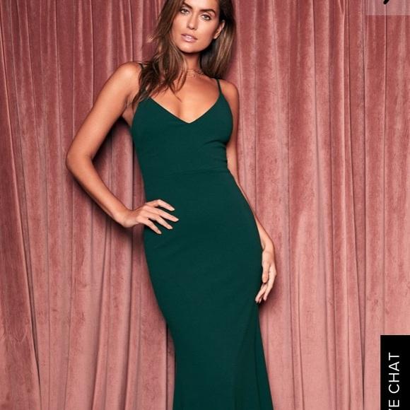acdce61376 Lulu s Dresses   Skirts - Lulu s Infinite glory forest green maxi dress